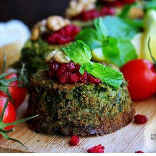 کوکوی سبزی سرخ شده