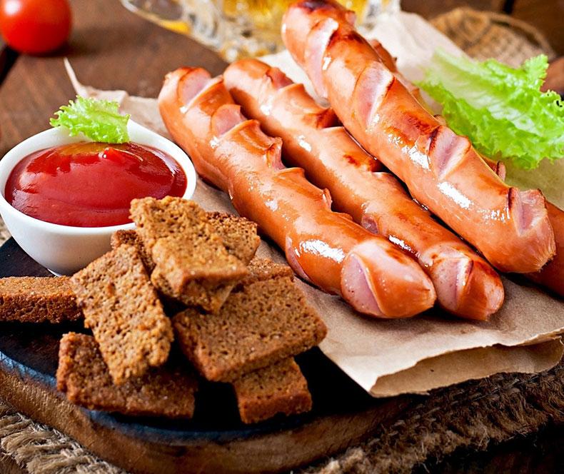 انواع خوراک سوسیس
